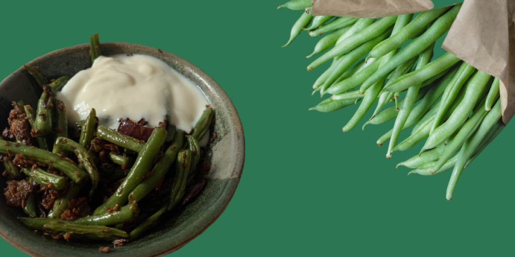 SPICY FRENCH BEANS WITH COCONUT FLAKES