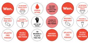 Environmenstrual Week badges