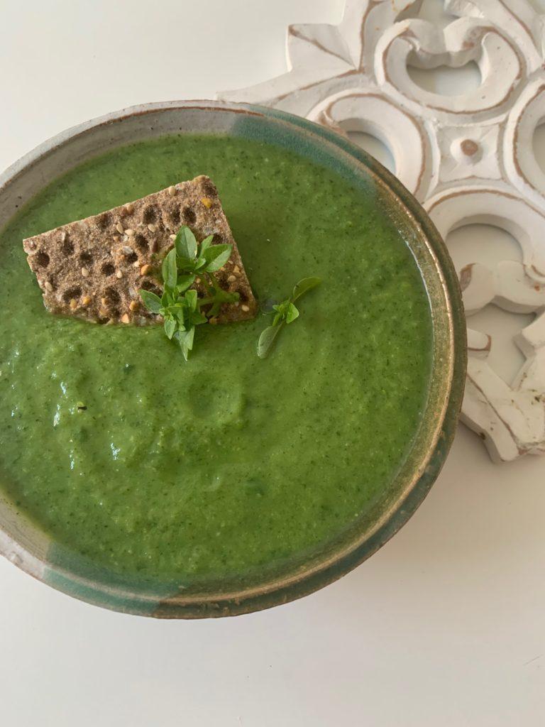 Gazpacho style green soup
